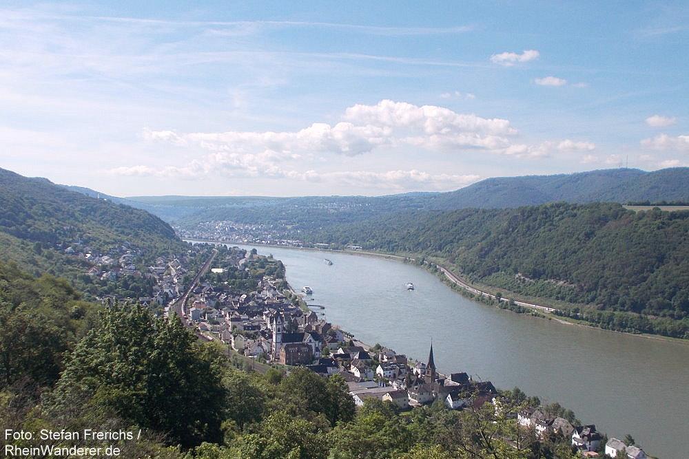 Mittelrhein: Blick auf Kamp-Bornhofen - Foto: Stefan Frerichs / RheinWanderer.de