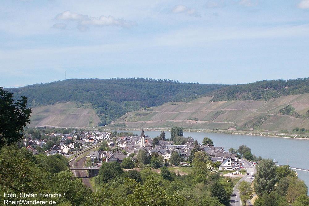 Mittelrhein: Hexenköpfel-Blick auf Osterspai - Foto: Stefan Frerichs / RheinWanderer.de