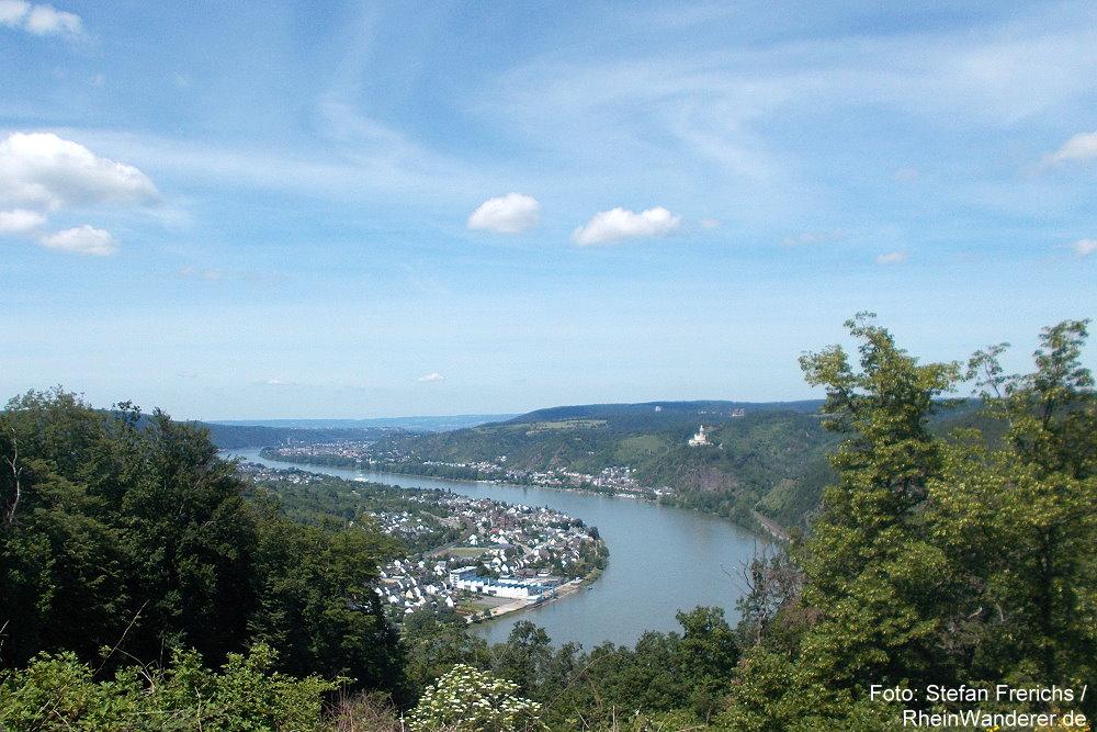 Mittelrhein: Blick vom Dinkholder Berg rheinabwärts - Foto: Stefan Frerichs / RheinWanderer.de