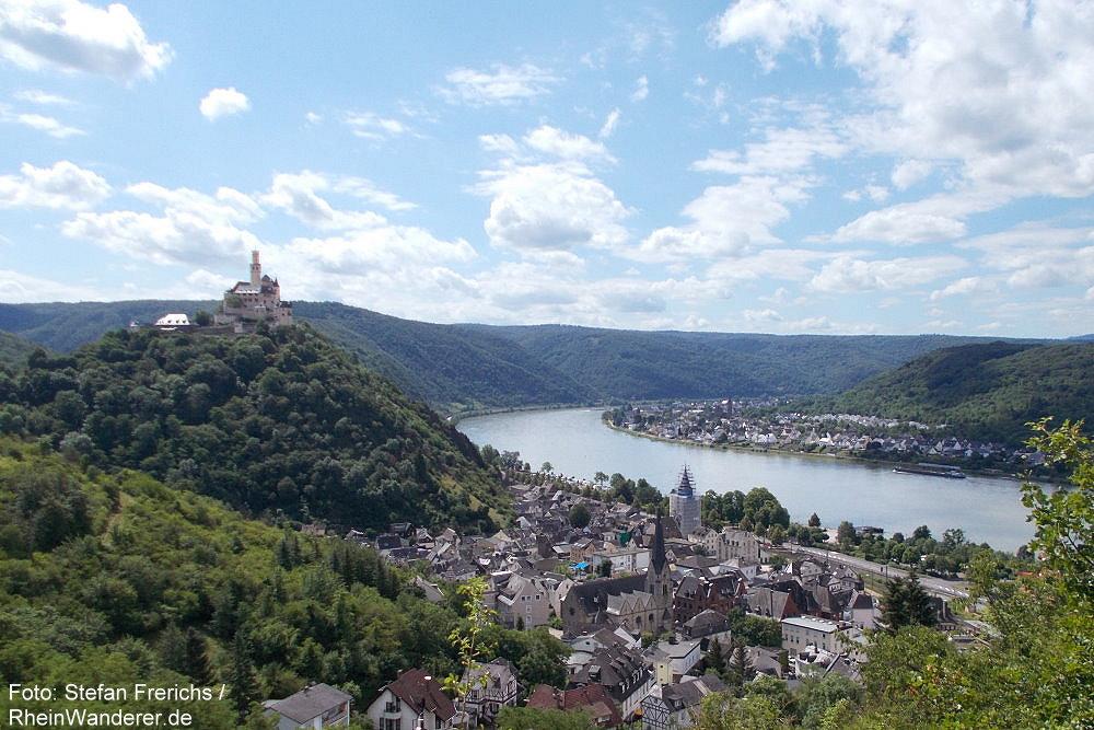 Mittelrhein: Blick auf Braubach und Marksburg - Foto: Stefan Frerichs / RheinWanderer.de