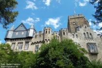Mittelrhein: Westseite von Burg Lahneck - Foto: Stefan Frerichs / RheinWanderer.de