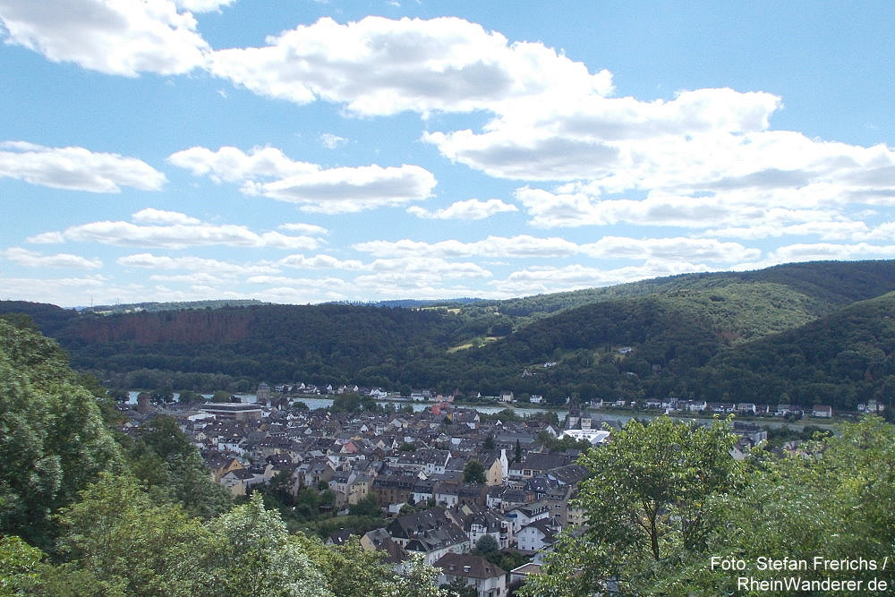 Mittelrhein: Blick von Burg Lahneck auf Oberlahnstein - Foto: Stefan Frerichs / RheinWanderer.de