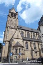 Mittelrhein: Sankt-Peter-und-Paul-Kirche in Koblenz-Pfaffendorf - Foto: Stefan Frerichs / RheinWanderer.de