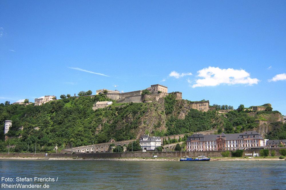 Mittelrhein: Festung Ehrenbreitstein in Koblenz - Foto: Stefan Frerichs / RheinWanderer.de
