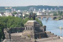Mittelrhein: Kaiser-Wilhelm-Denkmal am Deutschen Eck in Koblenz - Foto: Stefan Frerichs / RheinWanderer.de
