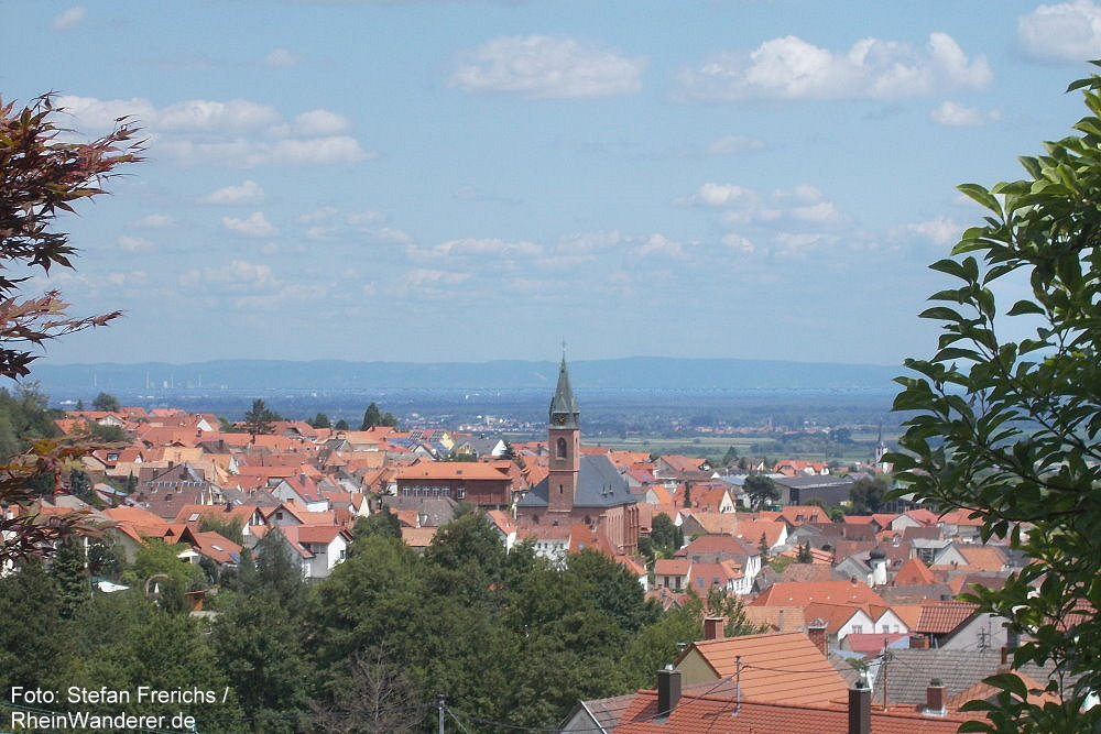 Pfälzerwald: Blick auf Sankt Martin - Foto: Stefan Frerichs / RheinWanderer.de