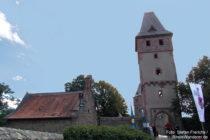 Odenwald: Torturm zur Kernburg von Burg Frankenstein - Foto: Stefan Frerichs / RheinWanderer.de