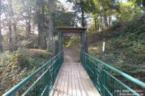Odenwald: Brücke zur Burgruine Tannenberg - Foto: Stefan Frerichs / RheinWanderer.de