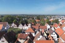 Odenwald: Blick von der Bergkirche auf die Altstadt von Zwingenberg - Foto: Stefan Frerichs / RheinWanderer.de