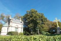 Odenwald: Mausoleum und Goldenes Kreuz auf dem Heiligenberg - Foto: Stefan Frerichs / RheinWanderer.de