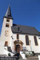 Mosel: Sankt-Hilarius-Kirche in Eller - Foto: Stefan Frerichs / RheinWanderer.de