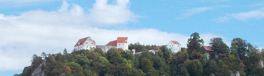 Obere Donau: Vögelesruh-Blick auf Burg Wildenstein - Foto: Stefan Frerichs / RheinWanderer.de