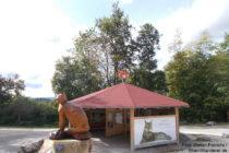 Obere Donau: Luchs-Info-Point bei Burg Wildenstein - Foto: Stefan Frerichs / RheinWanderer.de