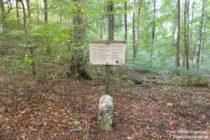 Obere Donau: Historischer Grenzstein - Foto: Stefan Frerichs / RheinWanderer.de