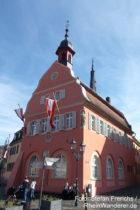 Inselrhein: Rathaus von Gau-Algesheim - Foto: Stefan Frerichs / RheinWanderer.de