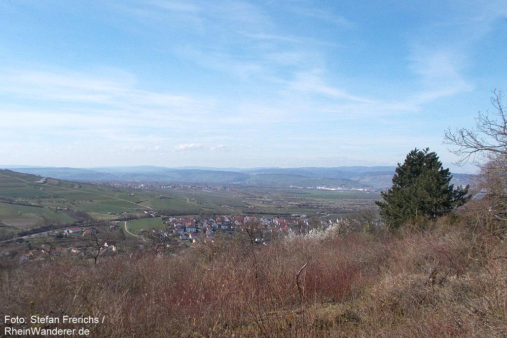 Aussichtspunkt bei Infanteriestellung am Gau-Algesheimer Kopf - Foto: Stefan Frerichs / RheinWanderer.de
