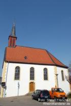 Inselrhein: Evangelische Kirche in Bubenheim - Foto: Stefan Frerichs / RheinWanderer.de