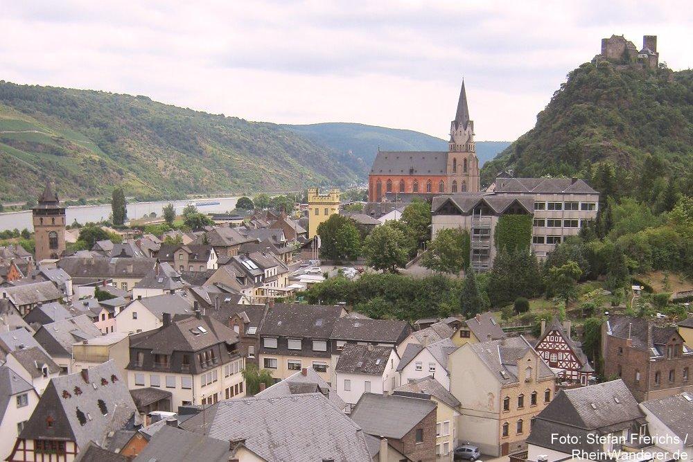 Mittelrhein: Blick auf Oberwesel - Foto: Stefan Frerichs / RheinWanderer.de