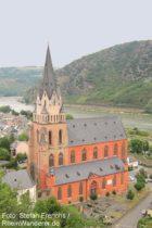 Mittelrhein: Liebfrauenkirche in Oberwesel - Foto: Stefan Frerichs / RheinWanderer.de