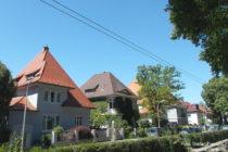 Neckar: Villenviertel in Neuostheim - Foto: Stefan Frerichs / RheinWanderer.de