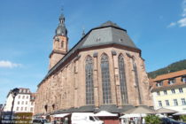 Neckar: Heiliggeistkirche in Heidelberg - Foto: Stefan Frerichs / RheinWanderer.de