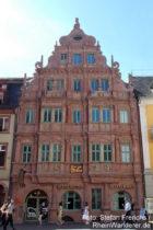 Neckar: Haus zum Ritter in Heidelberg - Foto: Stefan Frerichs / RheinWanderer.de