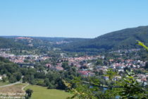 Neckar: Blick auf Neckargemünd - Foto: Stefan Frerichs / RheinWanderer.de