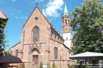 Neckar: Sankt-Gallus-Kirche in Ladenburg - Foto: Stefan Frerichs / RheinWanderer.de