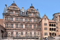 Neckar: Friedrichsbau vom Heidelberger Schloss - Foto: Stefan Frerichs / RheinWanderer.de