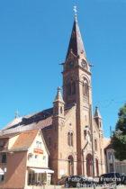 Neckar: Sankt-Johannes-Nepomuk-Kirche in Neckargemünd - Foto: Stefan Frerichs / RheinWanderer.de