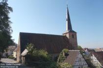 Odenwald: Martin-Luther-Kirche in Laudenbach - Foto: Stefan Frerichs / RheinWanderer.de