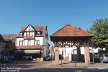 Odenwald: Historischer Marktplatz in Laudenbach - Foto: Stefan Frerichs / RheinWanderer.de