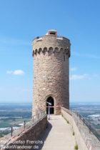 Odenwald: Nordturm von Schloss Auerbach - Foto: Stefan Frerichs / RheinWanderer.de