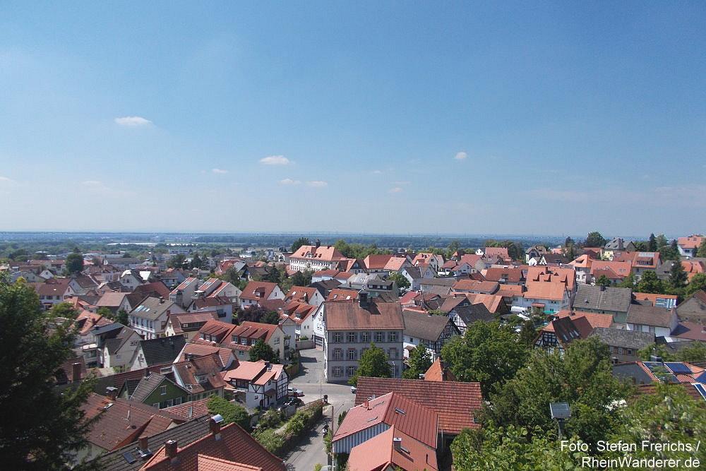 Odenwald: Blick von der Bergkirche auf Auerbach - Foto: Stefan Frerichs / RheinWanderer.de