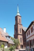 Neckar: Sankt-Bartholomäus-Kirche der Bergfeste Dilsberg - Foto: Stefan Frerichs / RheinWanderer.de