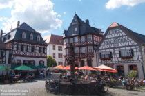 Odenwald: Fachwerkhäuser am Marktplatz in Heppenheim - Foto: Stefan Frerichs / RheinWanderer.de