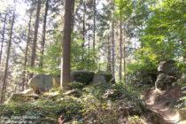Odenwald: Wanderweg am Wolfstein bei Hemsbach - Foto: Stefan Frerichs / RheinWanderer.de