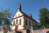 Odenwald: Sankt-Laurentius-Kirche in Hemsbach - Foto: Stefan Frerichs / RheinWanderer.de
