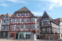 Odenwald: Fachwerkhäuser am Marktplatz in Bensheim - Foto: Stefan Frerichs / RheinWanderer.de