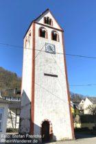 Mosel: Alter Glockenturm in Lehmen - Foto: Stefan Frerichs / RheinWanderer.de
