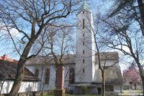 Inselrhein: Katholische Sankt-Laurentius-Kirche in Wörrstadt - Foto: Stefan Frerichs / RheinWanderer.de