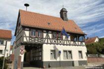 Odenwald: Altes Rathaus von Lützelsachsen - Foto: Stefan Frerichs / RheinWanderer.de