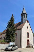 Odenwald: Sankt-Jakobus-Kirche von Hohensachsen - Foto: Stefan Frerichs / RheinWanderer.de