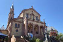 Odenwald: Sankt-Laurentius-Kirche in Weinheim - Foto: Stefan Frerichs / RheinWanderer.de