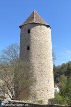 Odenwald: Turm Blauer Hut in Weinheim - Foto: Stefan Frerichs / RheinWanderer.de