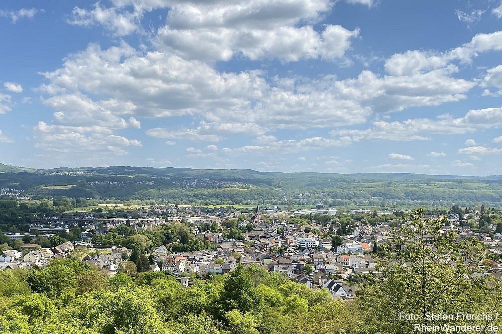 Ahr: Blick vom Feltenturm auf Sinzig - Foto: Stefan Frerichs / RheinWanderer.de