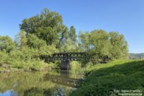 Ahr: Blick auf die Holzbrücke an der Ahrmündung - Foto: Stefan Frerichs / RheinWanderer.de