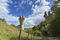Ahr: Pfeiler des Adenbachtal-Viadukts bei Ahrweiler - Foto: Stefan Frerichs / RheinWanderer.de