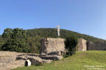 Odenwald: Überreste des Bergfrieds der Schauenburg - Foto: Stefan Frerichs / RheinWanderer.de