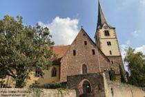 Odenwald: Evangelische Kirche in Dossenheim - Foto: Stefan Frerichs / RheinWanderer.de